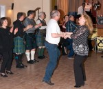 Group dancing at Dr Philippa Whitford's SNP Candidate Adoption night