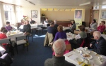 Dr Philippa Whitford in Troon SNP meet the candidate café