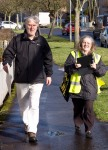 Two SNP campaigners during Dr Philippa Whitford's Central Ayrshire campaign in Irvine, Saturday 21st February 2015