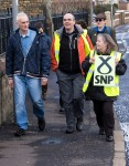 small group of SNP campaigners during Dr Philippa Whitford's Central Ayrshire campaign in Irvine, Saturday 21st February 2015