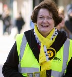 Dr Philippa Whitford during Central Ayrshire campaign in Irvine, Saturday 21st February 2015