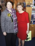 SNP shop in Irvine - Dr Philippa Whitford with Nicola Sturgeon