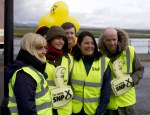 Small group of local SNP canvassing team in Irvine