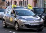 SNP bedecked Renault Megane in Prestwick