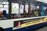 Advert on side of bus for Dr Philippa Whitford