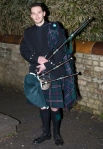 Young piper for Troon AIM/SNP Burns Supper