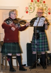 2015 Troon Burns Supper - Hans & Seán playing fiddles