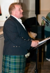 2015 Troon Burns Supper - man in kilt addressing the guests