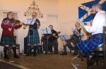 2015 Troon Burns Supper - the band again: Hans, Seán, Paul, Gavin, Chris, Jim C (hidden), Boyd