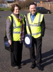 Dr Philippa Whitford, Central Ayrshire SNP Candidate with Alyn Smith MEP in Tarbolton