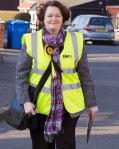 Dr Philippa Whitford canvassing for SNP in Tarbolton