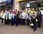 Women for Independence team helping Dr Philippa Whitford canvass