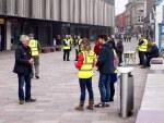 SNP canvassing team working in Irvine's Bridgegate shopping precinct