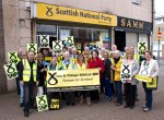 SNP canvassing team with Philippa outside campaign rooms
