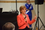 Nicola Sturgeon addressing SNP supporters