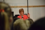 Nicola Sturgeon taking questions from SNP supporters