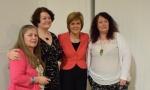 Elizabeth Thomson, Dr Philippa Whitford, Nicola Sturgeon, Tracy Wallace