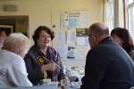 Dr Philippa Whitford explaing issues to people