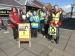 Dr Philippa Whitford with some of the canvassing team in Troon