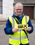Hans helping Philippa during the mass SNP canvass in Dundonald