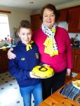 Philippa and Gregor with his amazing cake