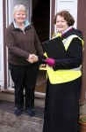 Philippa with voter in Dundonald
