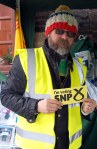 Volunteer helping Philippa during the mass SNP canvass in Dundonald -01