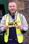 Volunteer helping Philippa during the mass SNP canvass in Dundonald-04