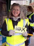 Volunteer helping Philippa during the mass SNP canvass in Dundonald