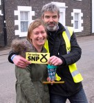Volunteers helping Philippa during the mass SNP canvass in Dundonald-03