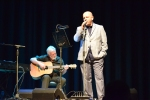 Pat Kane and Steve McCann performing on stage at Philippa Whitford's SNP fundraiser