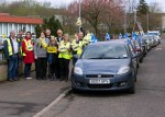 SNP cavalcade team with Dr Philippa Whitford in Symington