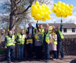 SNP cavalcade team in Loans with Dr Philippa Whitford