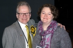 Hans and Philippa outside the Citadel in Ayr before the official result