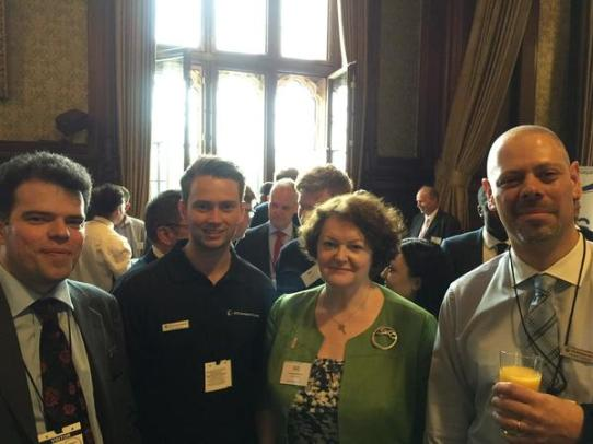 Philippa at House of Commons ADS Reception with David Jackson from UTC Prestwick